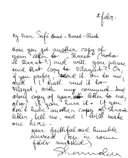 Letter to SAM 1
